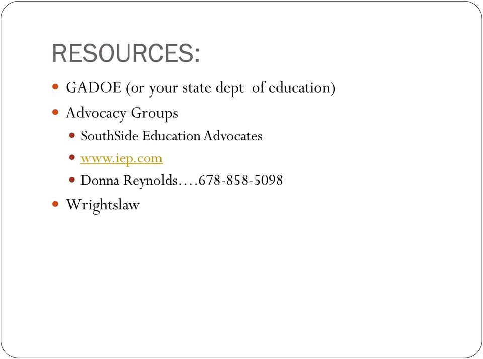 SouthSide Education Advocates www.