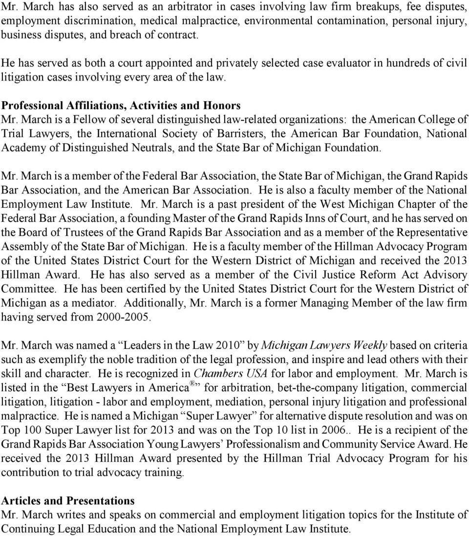Professional Affiliations, Activities and Honors Mr.