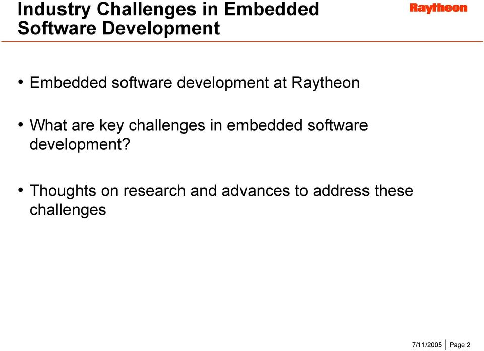 challenges in embedded software development?