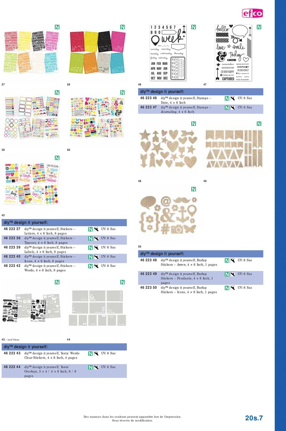 pages 46 223 40 diy design it yourself, Stickers Icons, 4 6 Inch, 8 pages 46 223 42 diy design it yourself, Stickers Words, 4 6 Inch, 8 pages 50 diy design it yourself: 46 223 48 diy design it