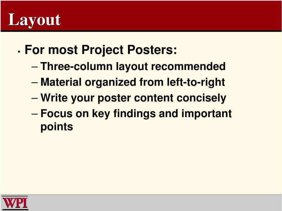 left-to-right Write your poster content