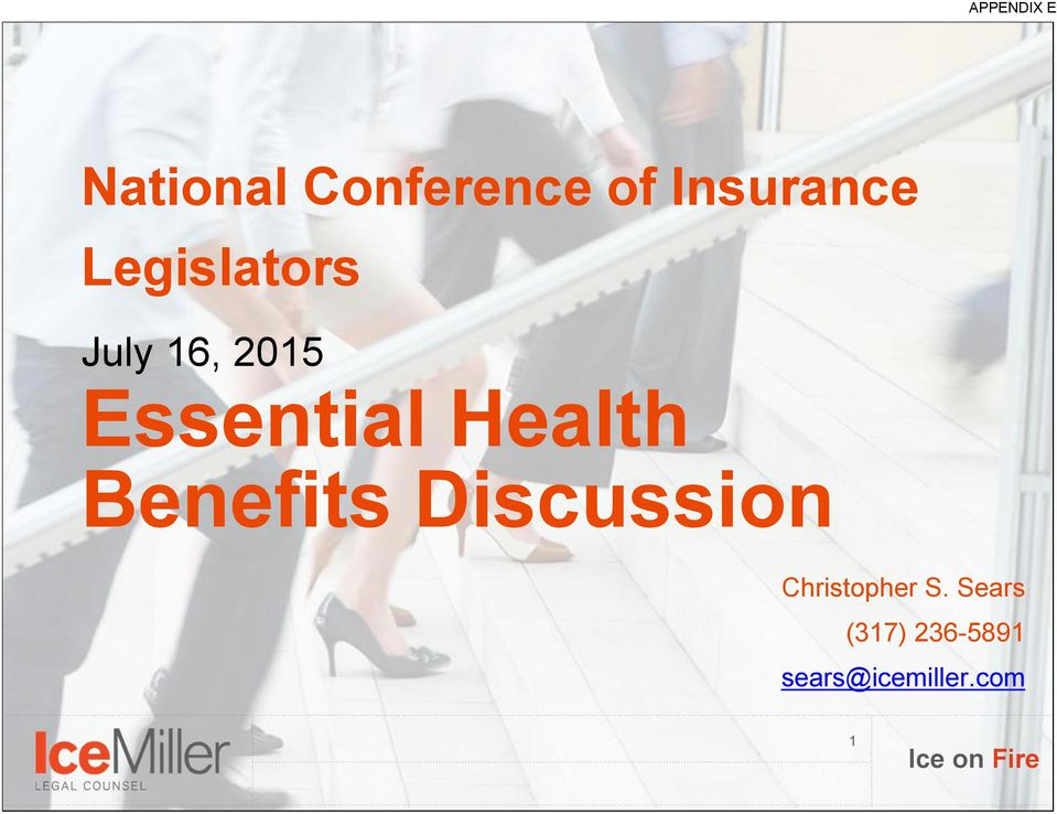 Essential Health Benefits Discussion