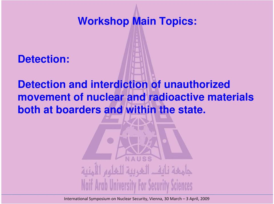 unauthorized movement of nuclear and