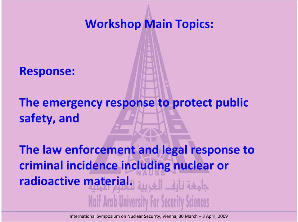 enforcement and legal response to criminal