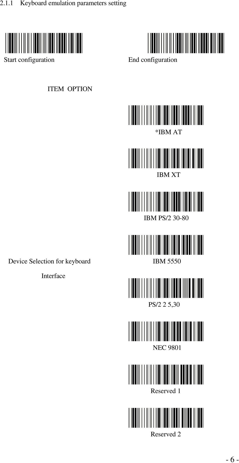 30-80 Device Selection for keyboard IBM 5550