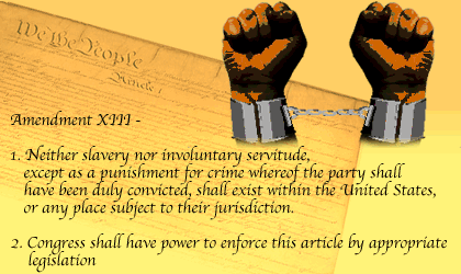 13 th Amendment (1865) Abolition of slavery 14 th Amendment (1868)