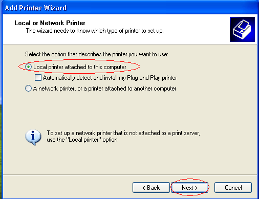 If the interface is Serial, turn on printer connected to the PC. Then perform the additional steps.