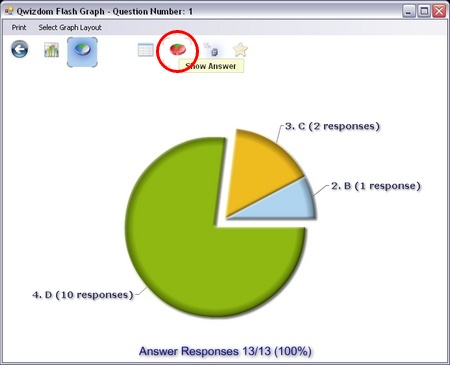 Presentation Pie Chart Displaying