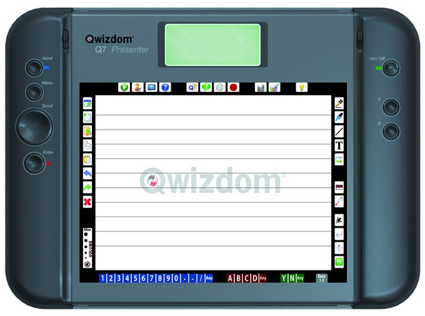 "5 Qwizdom Q7RF Tablet User Guide ""Host Not Found,"" it could be either that the Session ID is incorrect or the Host isn't active. Press the Menu key. Use the Scroll button to select Enter Session ID."