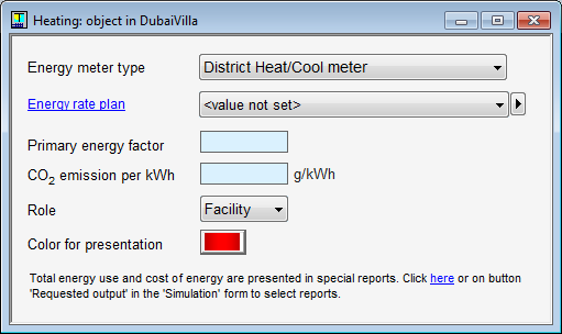 Screen capture of shading computation (h) natural ventilation; See infiltration dialog below (i) indoor climatic conditions, including the designed indoor climate.