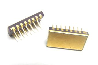 Space Level Isolated Diode Arrays 1:1 crosses to industry standard High density packaging Low capacitance, low leakage Protect up to 8 I/O ports from ESD, EFT, or surge Isolated diodes eliminate