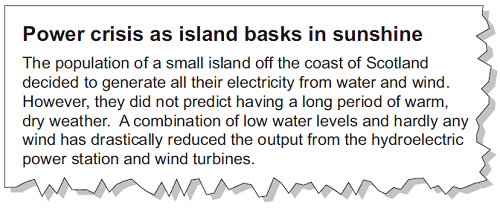 How is the National Grid designed to reduce energy losses during transmission? () (c) Read this extract from a newspaper.