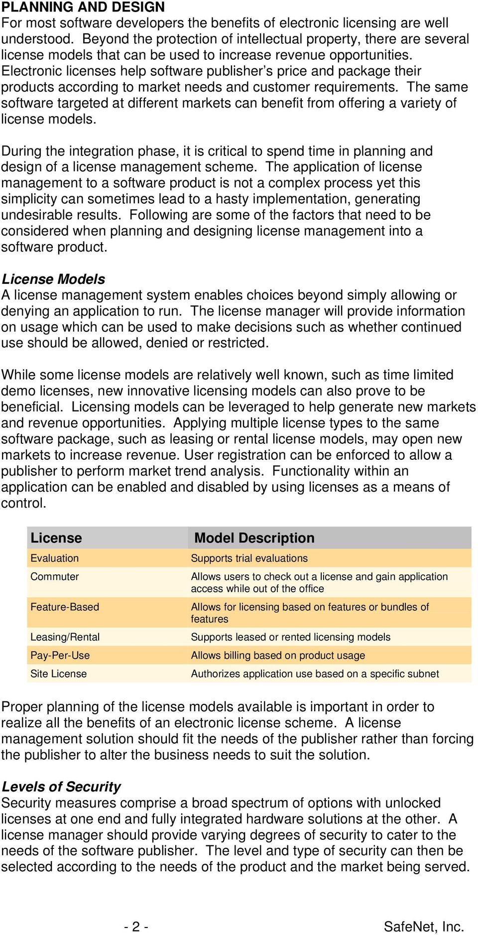 Electronic licenses help software publisher s price and package their products according to market needs and customer requirements.