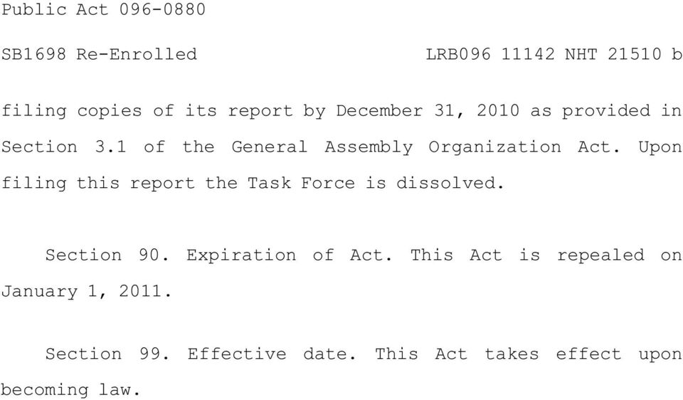 Upon filing this report the Task Force is dissolved. Section 90.