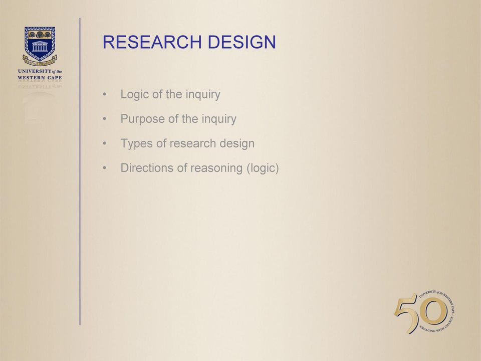 inquiry Types of research