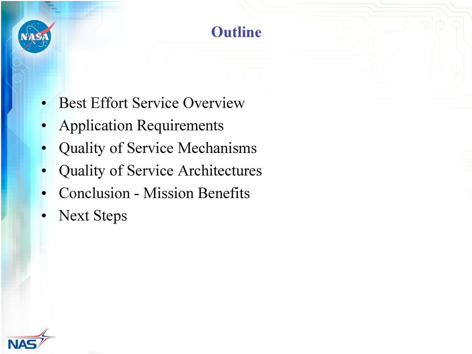 Service Mechanisms Quality of Service