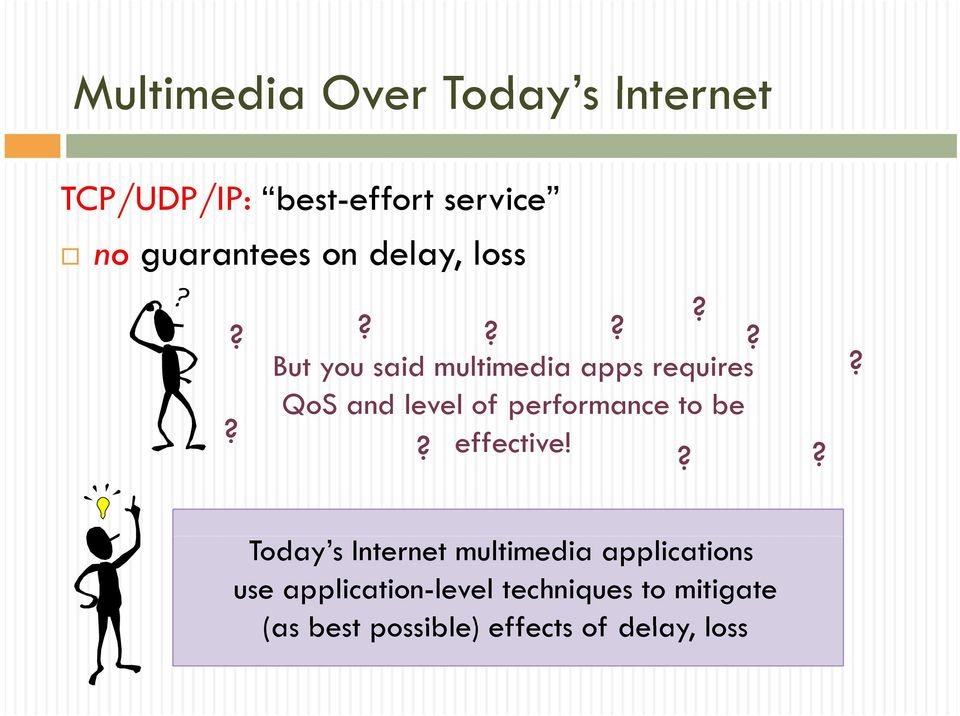 ?????? But you said multimedia apps requires QoS and level of performance to be?