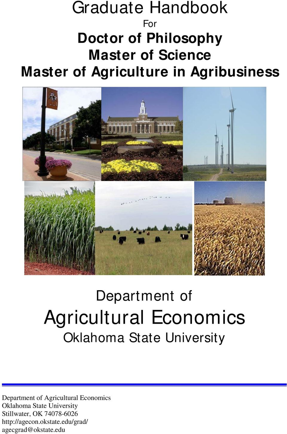 State University Department of Agricultural Economics Oklahoma State