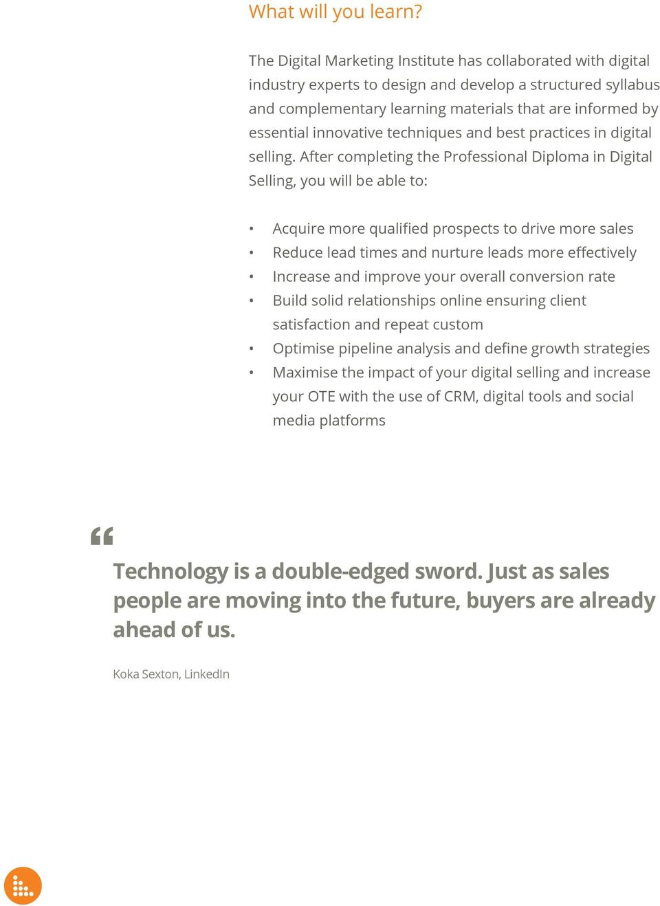 innovative techniques and best practices in digital selling.