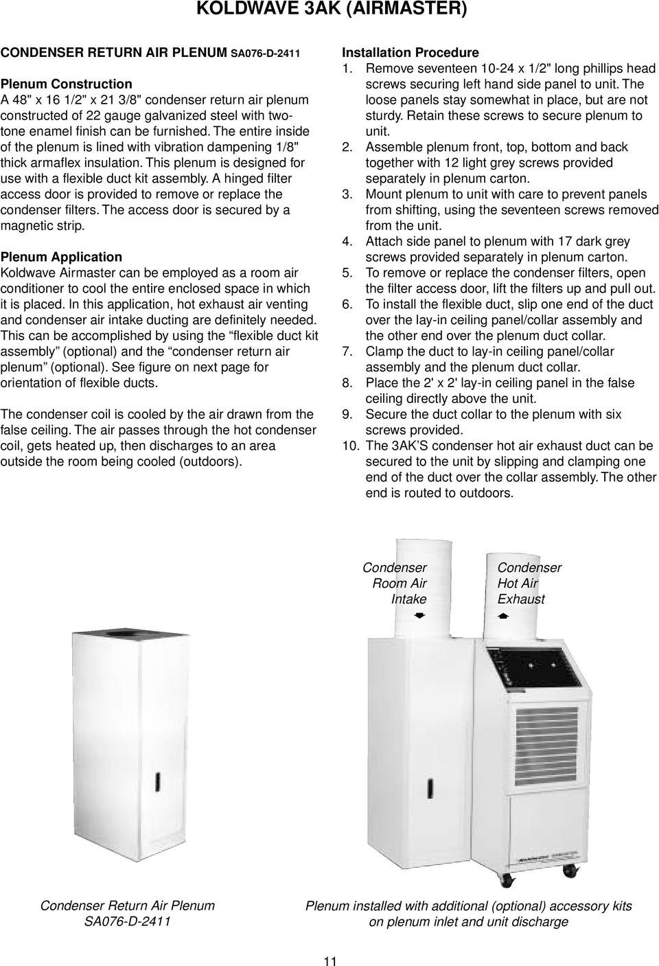 garrison portable air conditioner manual pdf