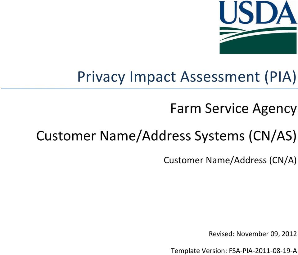 Customer Name/Address (CN/A) Revised:
