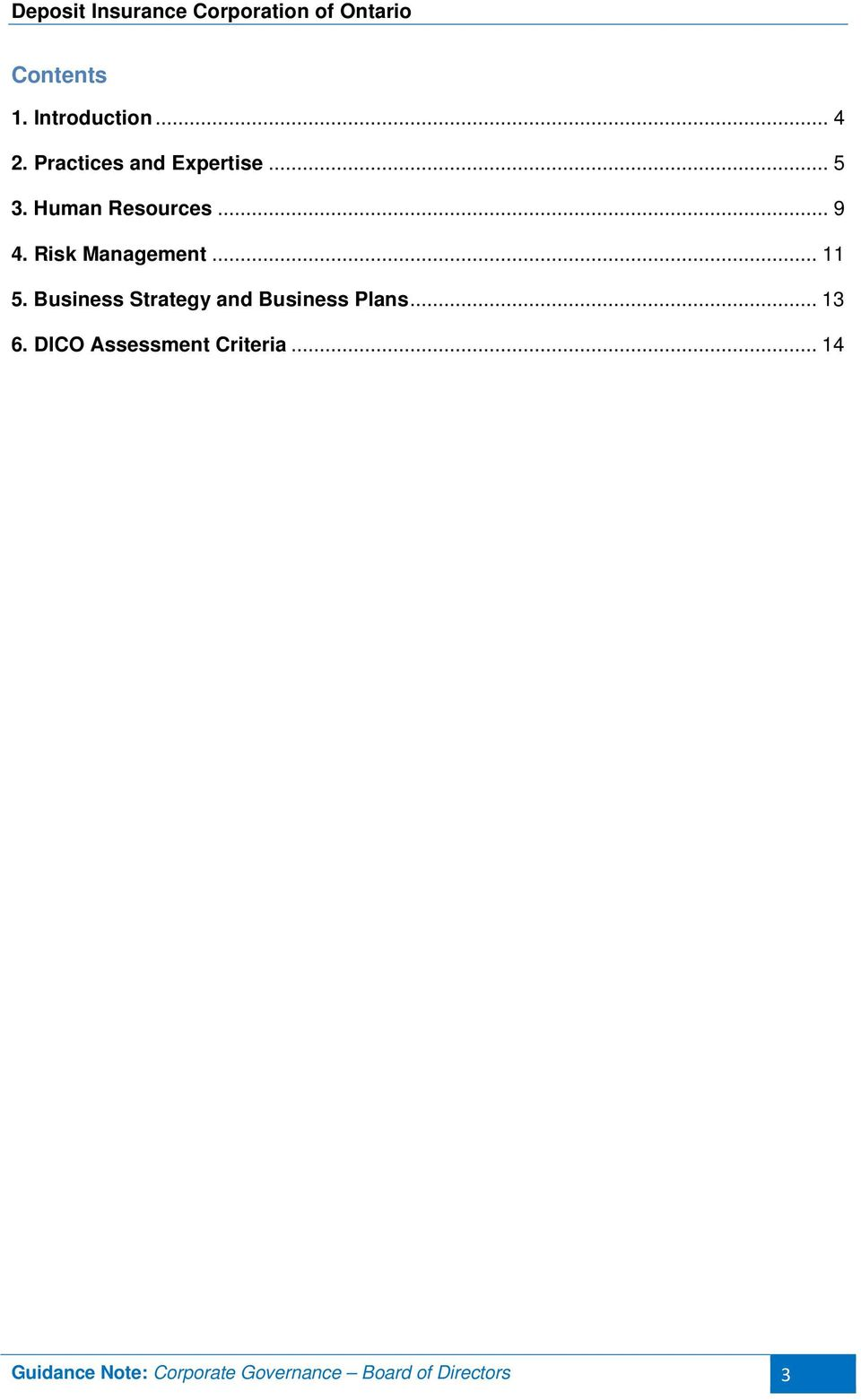 Business Strategy and Business Plans... 13 6.