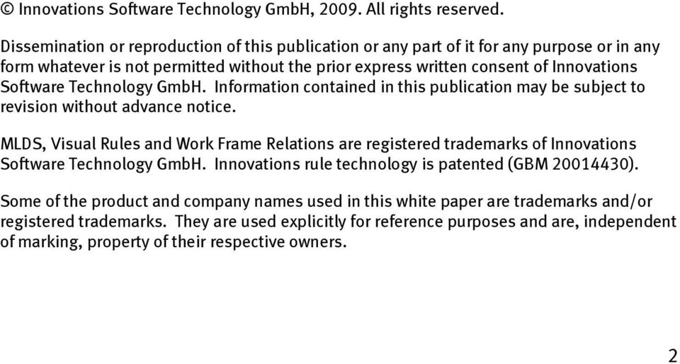 Software Technology GmbH. Information contained in this publication may be subject to revision without advance notice.