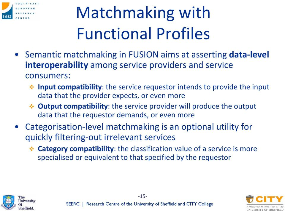 service provider will produce the output data that the requestor demands, or even more Categorisation level matchmaking is an optional utility for quickly