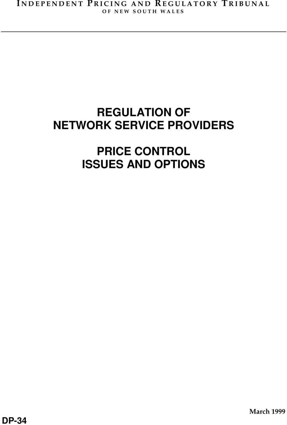 OF NETWORK SERVICE PROVIDERS PRICE
