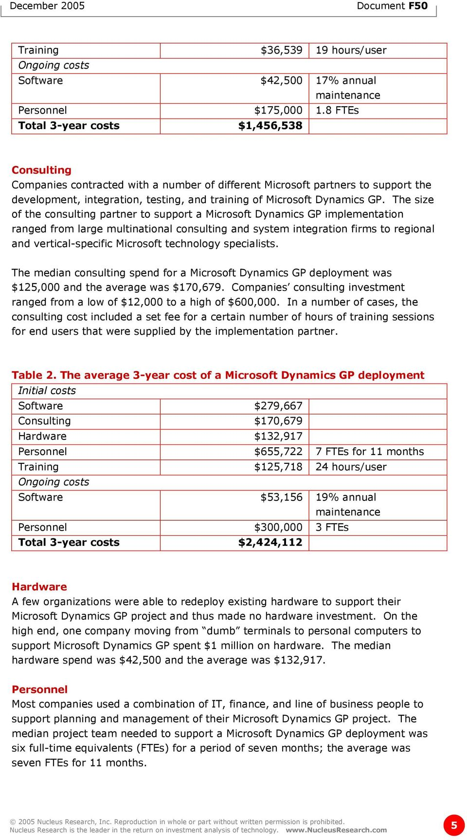 GP. The size of the consulting partner to support a Microsoft Dynamics GP implementation ranged from large multinational consulting and system integration firms to regional and vertical-specific
