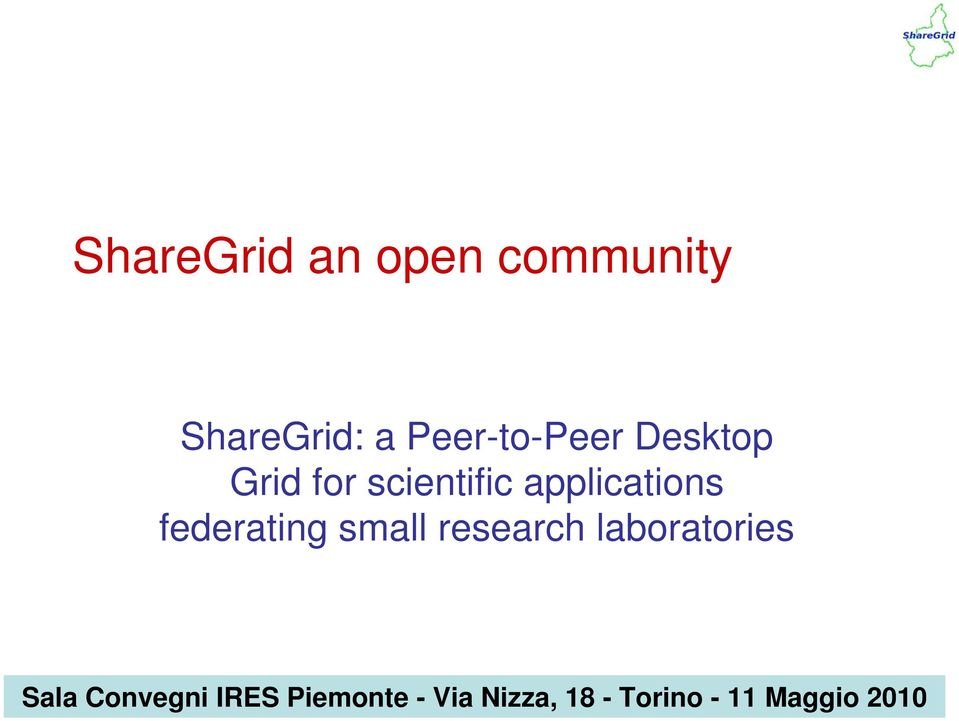 applications federating small research