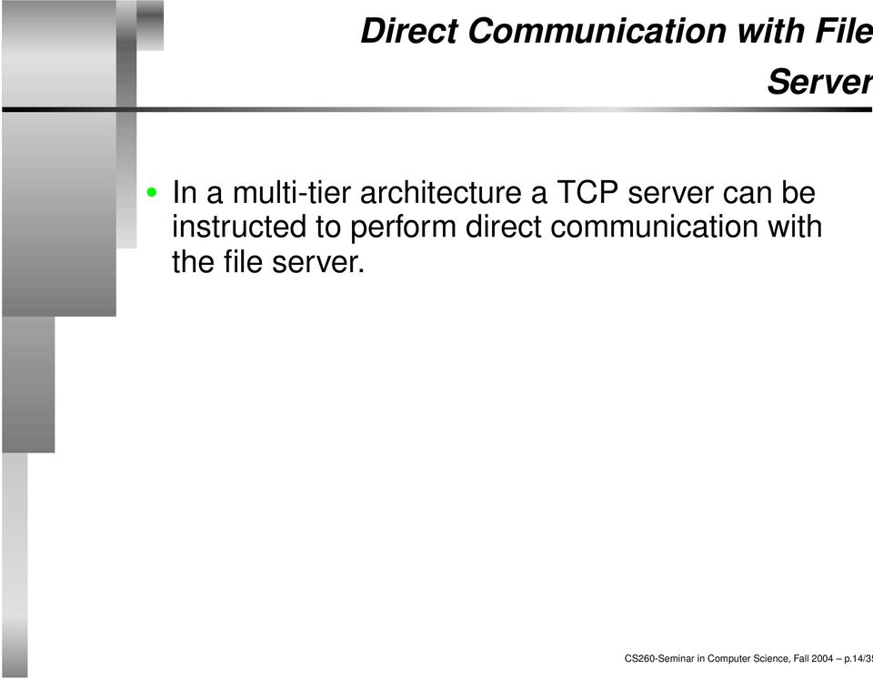 instructed to perform direct communication with