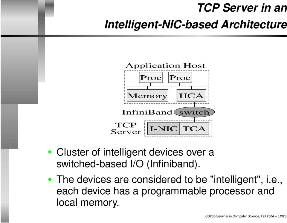"The devices are considered to be ""intelligent"", i.e., each device has a programmable processor and local memory."