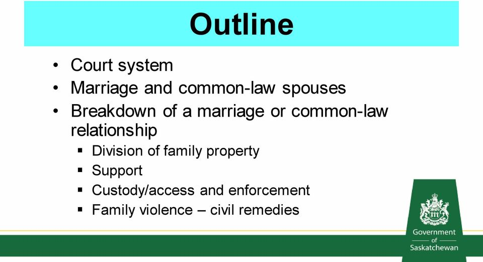 relationship Division of family property Support