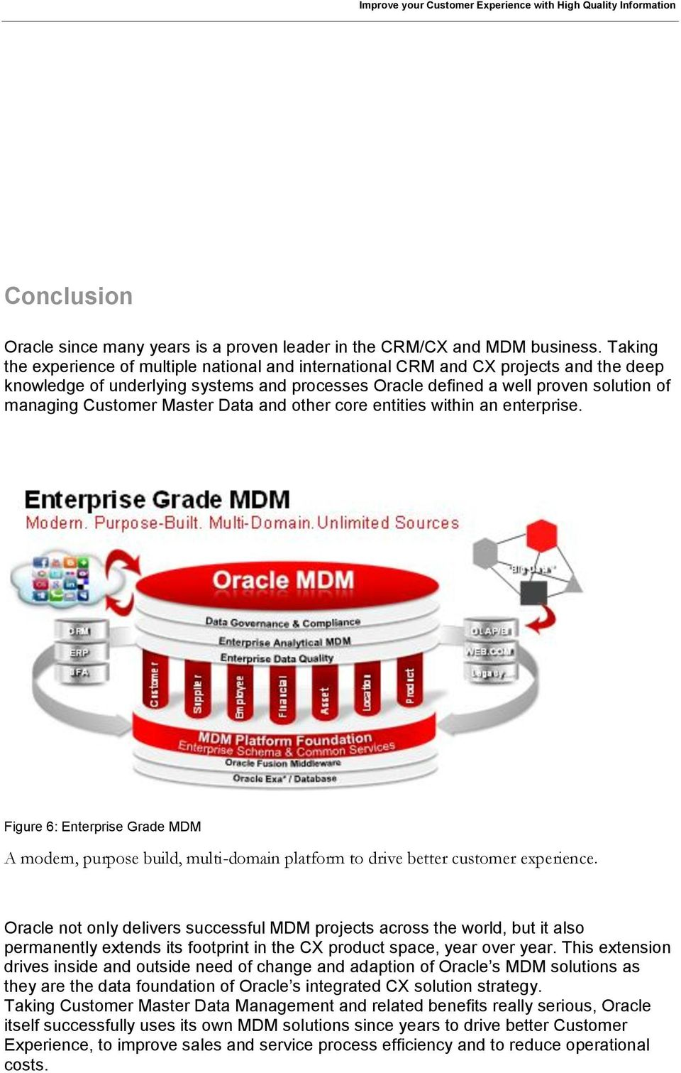 Master Data and other core entities within an enterprise. Figure 6: Enterprise Grade MDM A modern, purpose build, multi-domain platform to drive better customer experience.