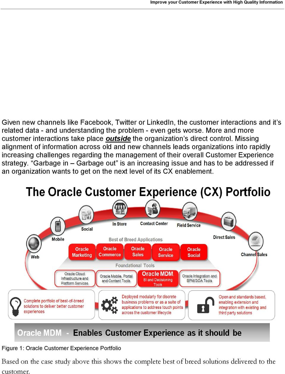 Missing alignment of information across old and new channels leads organizations into rapidly increasing challenges regarding the management of their overall Customer Experience