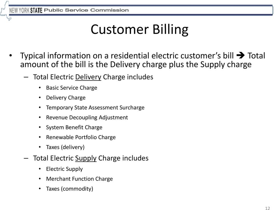 Charge Temporary State Assessment Surcharge Revenue Decoupling Adjustment System Benefit Charge Renewable