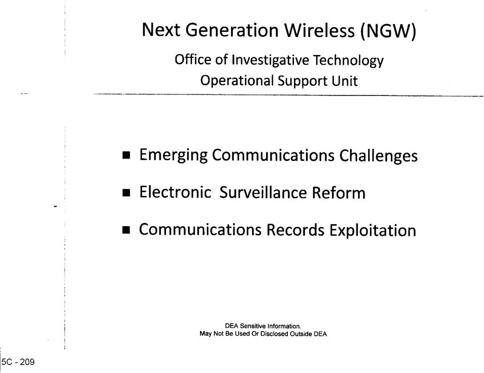 Challenges Electronic Surveillance Reform Communications Records