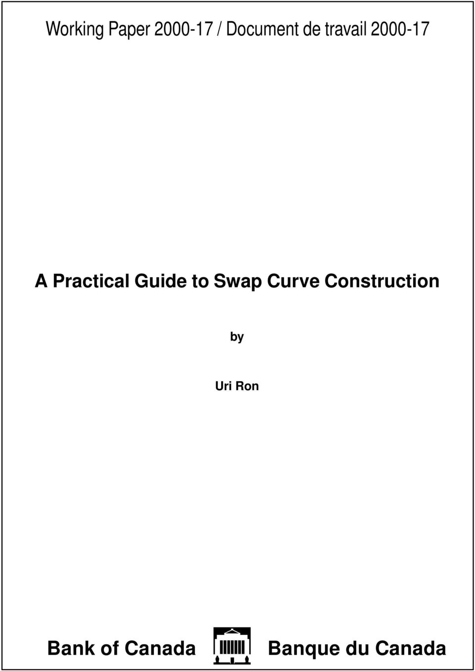 Guide to Swap Curve Construction