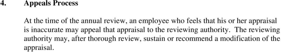 appraisal to the reviewing authority.
