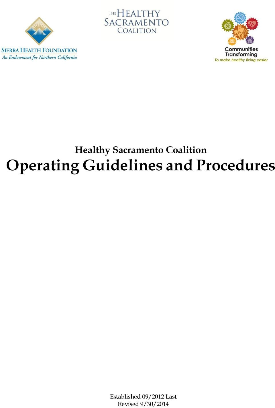 Guidelines and Procedures