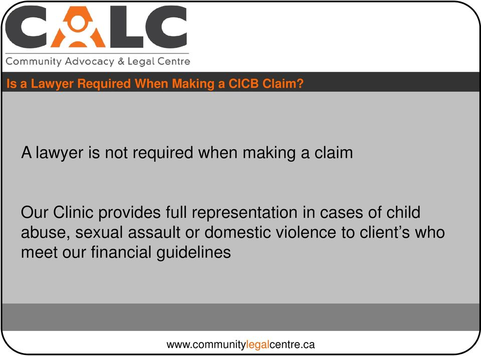 provides full representation in cases of child abuse,