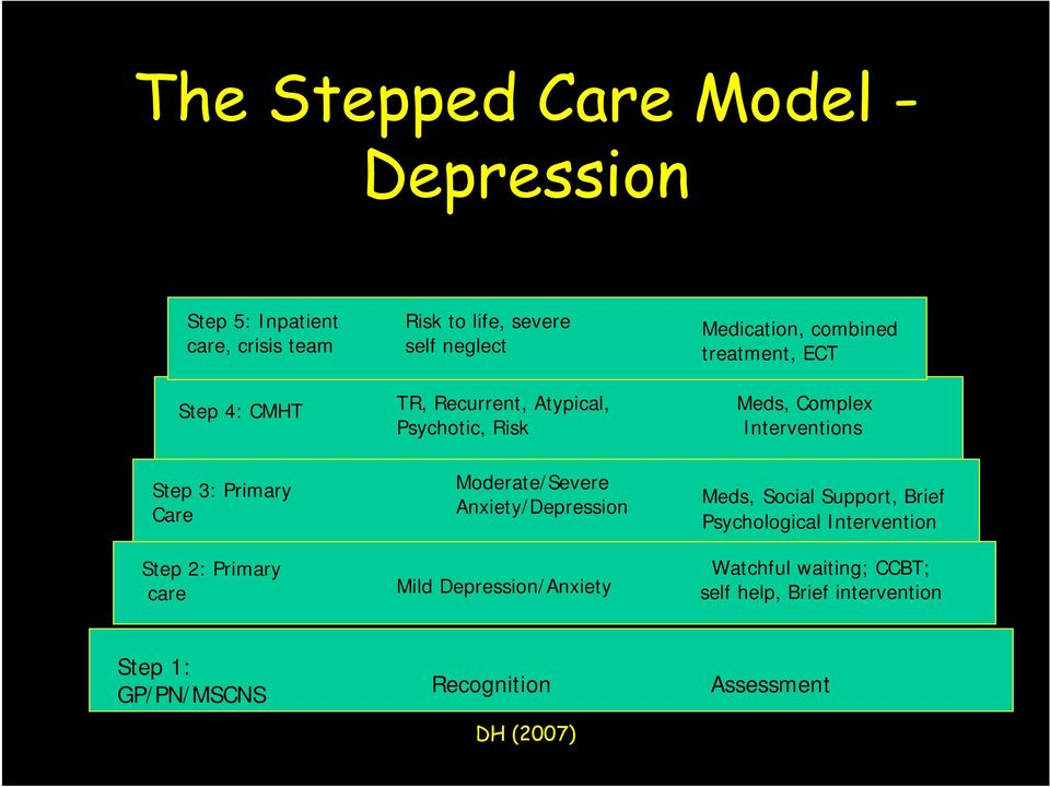 Depression/Anxiety Medication, combined treatment, ECT Meds, Complex Interventions Meds, Social Support, Brief