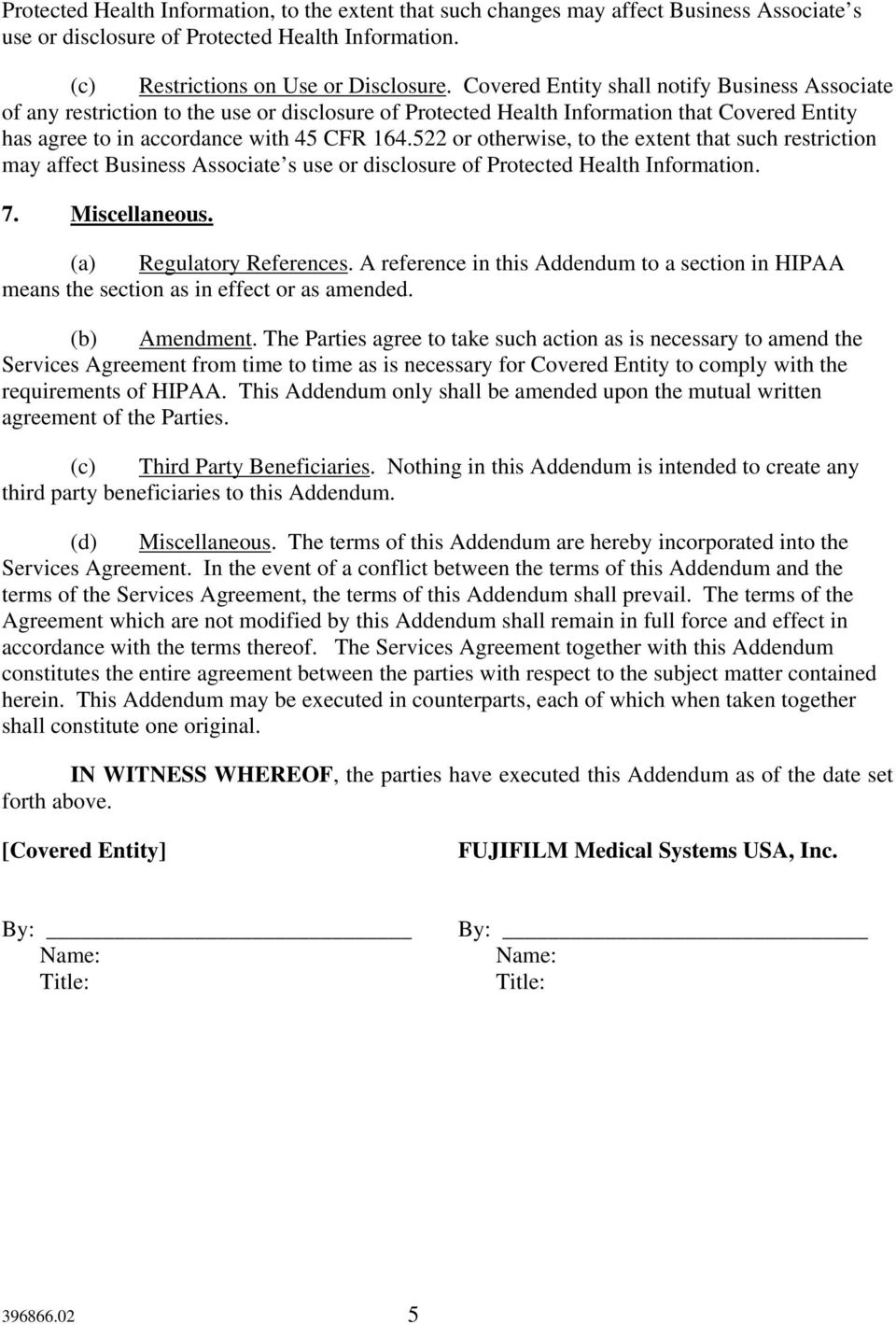 HIPAA BUSINESS ASSOCIATE ADDENDUM - PDF