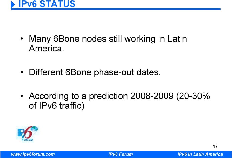 Different 6Bone phase-out dates.