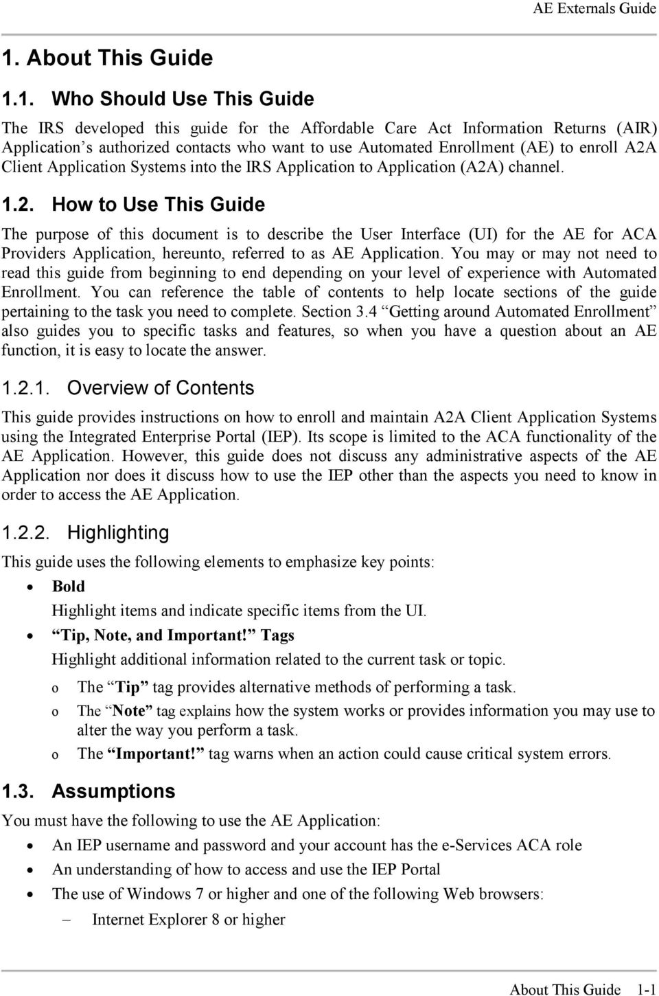 Client Application Systems into the IRS Application to Application (A2A