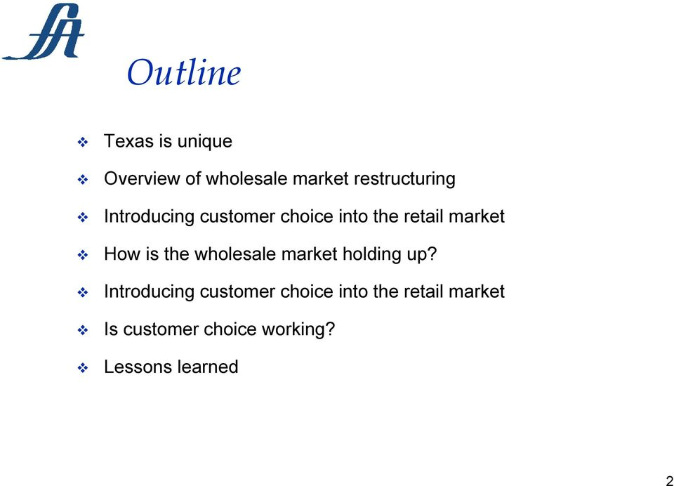 market How is the wholesale market holding up?