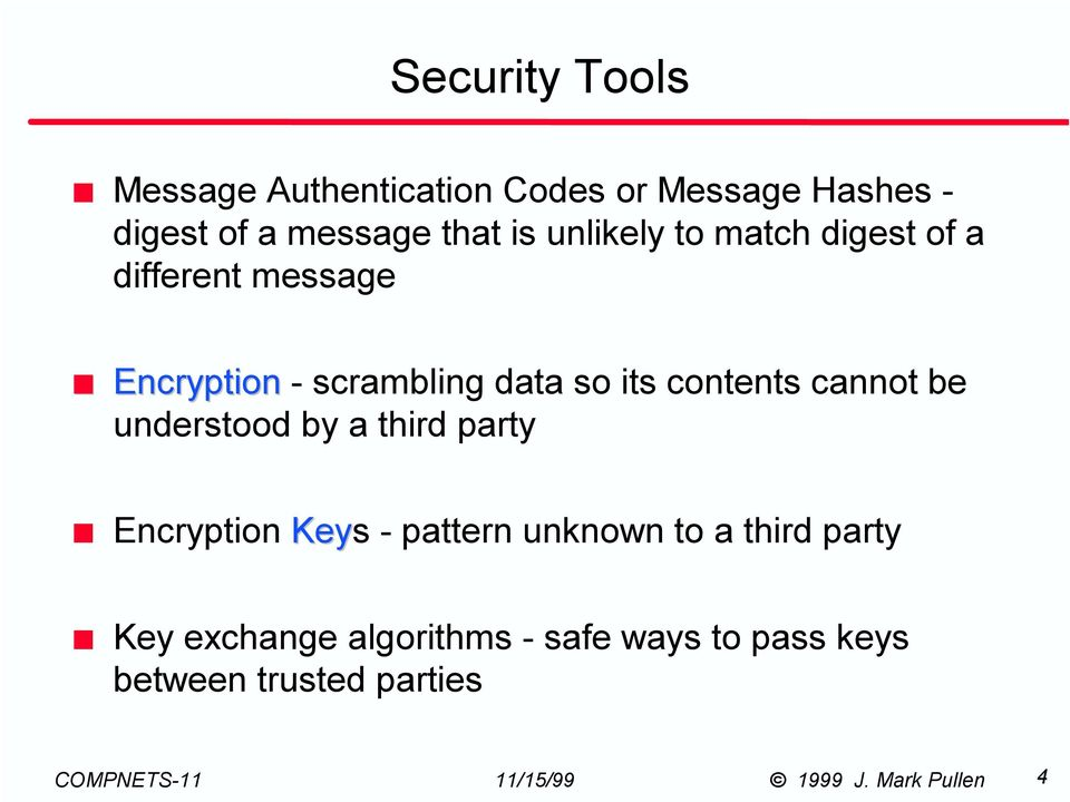 so its contents cannot be understood by a third party Encryption Keys - pattern