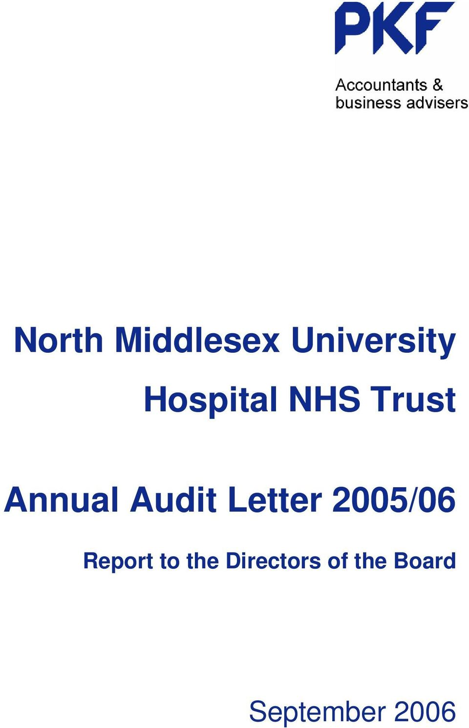 Audit Letter 2005/06 Report