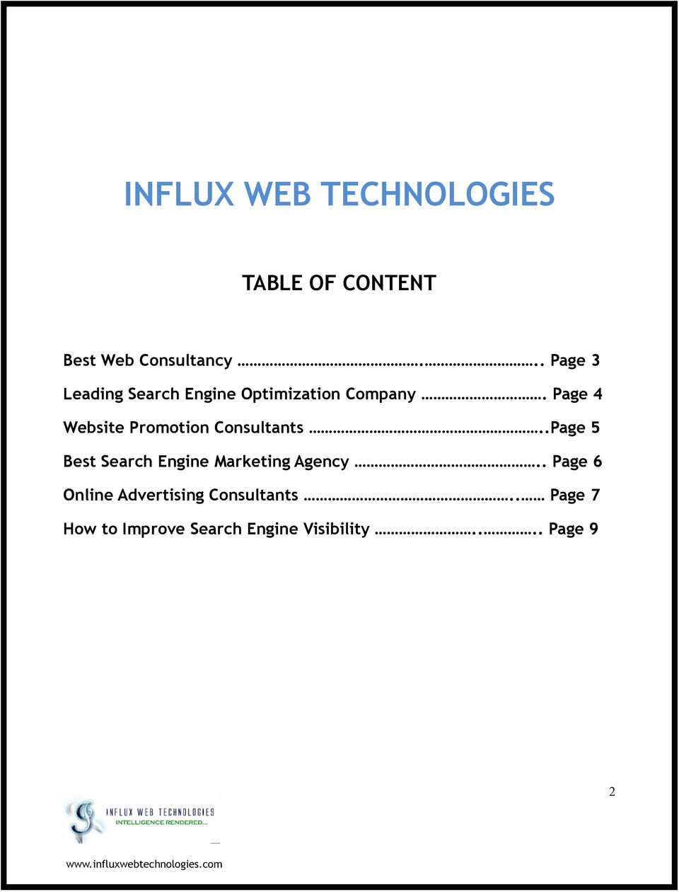 Page 4 Website Promotion Consultants.